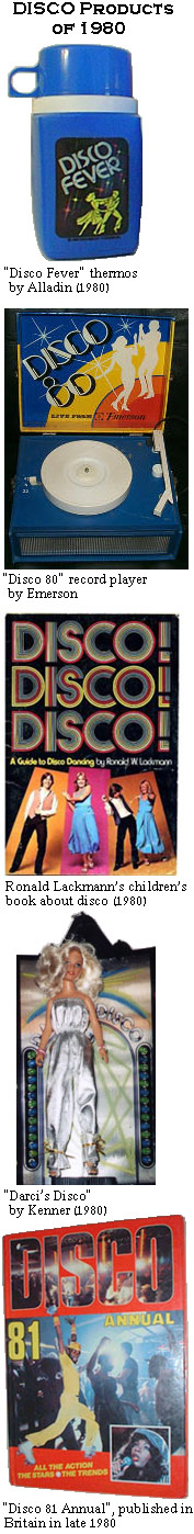 Collage of Disco Products made in 1980